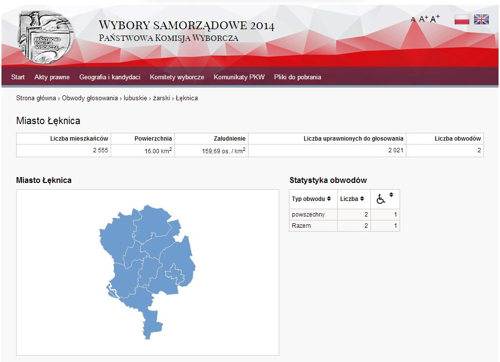 Wizualizacja wyborów Łęknica
