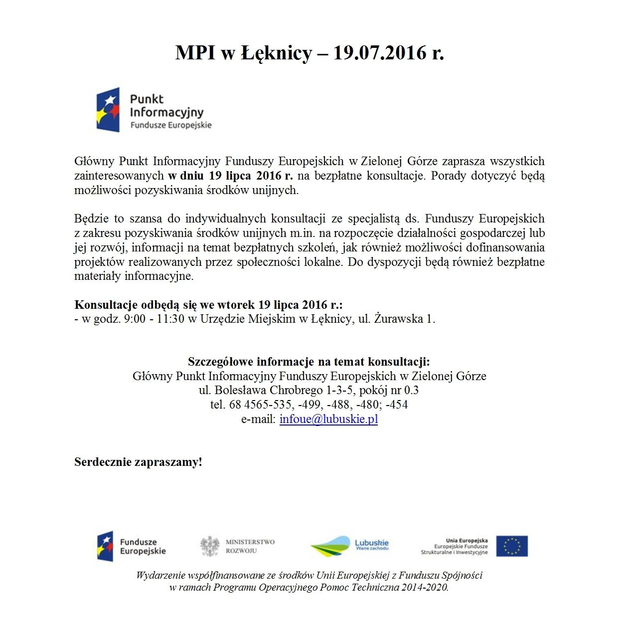 Szansa do indywidualnych konsultacji ze specjalistą - Fundusze Europejskie