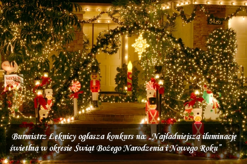 Konkurs na najładniejszą iluminację świtlną w okresie Świąt Bożego Narodzenia i Nowego Roku