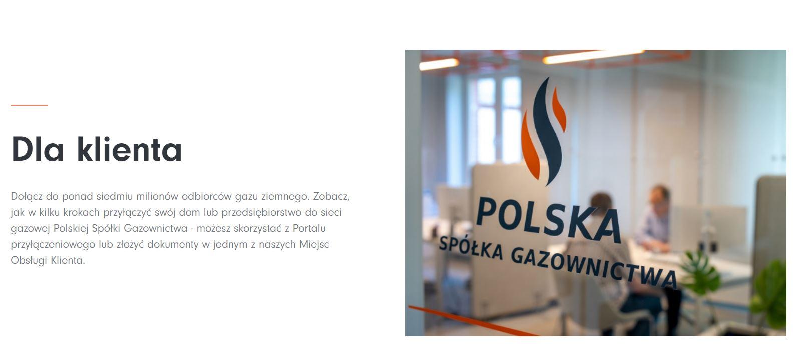 Link graficzny do portalu https://www.psgaz.pl/dla-klienta